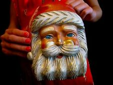 TIMMY WOODS AMAZING SIGNED MINAUDIERE CLUTCH BAG HAND CARVED SANTA CLAUS