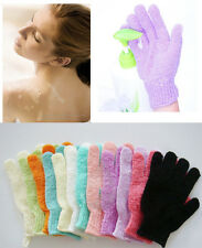 1 Pcs Shower Exfoliating Wash Skin Spa Bath Gloves Massage Loofah Scrubber New