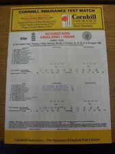 23/08/1990 Cricket Scorecard: England v India [At The Oval] 5 Day Match (scores