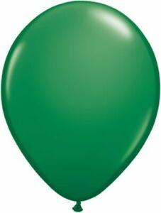 "11"" Qualatex Dark Green Latex 25 Count Balloons Party Supplies"