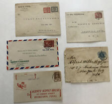 5 Netherlands Antilles Curacao covers 1906-1949 [y3378]