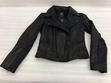 harley davidson women ladies leather and denim jacket size small 97157-16vw S