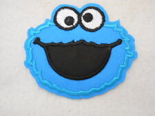 COOKIE MONSTER NEW EMBROIDERED  SEW/ IRON ON NAME PATCH TAG