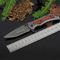 Opening Folding Pocket Saber BRN Knife Quickly Outdoor Sports Hunting Tool Gift