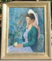 Jerry Farnsworth b.1895 oil/canvas 24 x 30, signed LR