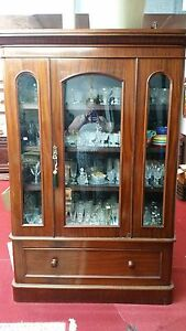 Antique Mahogany American Bookcase 1800's Empire
