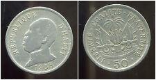 HAITI   50  centimes  1908