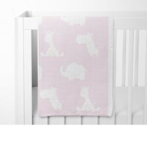 Bubba Blue Playtime Cotton Knit Blanket Pink