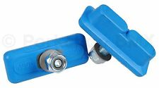 Kool Stop bicycle Continental THREADED brake pads Skyway Mags AQUA BLUE (PAIR)