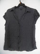 Josephine Chaus Size 6 Women's 100% Silk Polka Dot  Blouse Top Shirt
