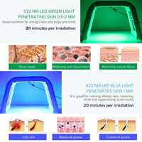 PDT 7 Color LED Light Photodynamic Photon Therapy Face Skin Care Facial Machine/