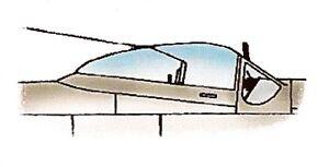 Squadron P-51D Dallas Clear Aircraft Canopy SQ9158