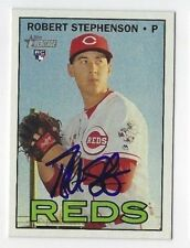 Robert Stephenson Autographed 2016 Topps Heritage Signed Card #706 Reds