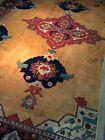RARE Autentic Sarouk Hand Made Rug 8'7 x 11'5 sarough hand knotted carpet GOLDEN