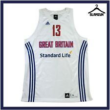 More details for great britain basketball jersey adidas xl away team gb no 13 fiba 2011 2012 h37