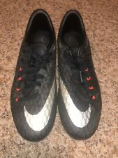 Nike Hypervenom Soccer Cleats (size: 6.5) Black/Silver/Red