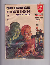 Science Fiction Quarterly February 1956 Pulp Harry Warner Jr., Algis Budrys