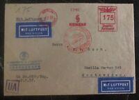 1937 Berlin Germany Airmail Siemens Meter Cancel cover to Montevideo Uruguay