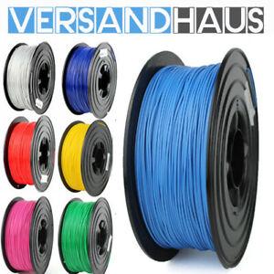 3D Drucker Filament PLA PetG 1,75 mm 1 KG Rolle in Spule **Verschiedene Farben**