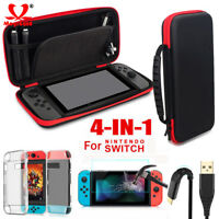 Travel Carry Bag+Shell Cover+Cable+Protector for Nintendo Switch EVA Storage Bag