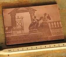 ANTIKE Galvano Druckstock Kupferklischee Druckplatte Druckerei Bleisatz Drucker