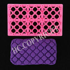 NEW heart fondant embosser Cutter Icing Mold sugarcraft cake quilted