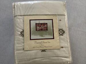 Woolrich Flannel Sheet Set Twin Size Tan Aztec