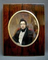 LOUIS FRANCOIS AUBRY 1835, SPLENDIDE MINIATURE PORTRAIT HOMME de QUALITE, SIGNÉE