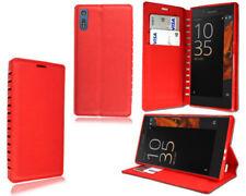 Cover e custodie rosso in pelle Sony per cellulari e palmari