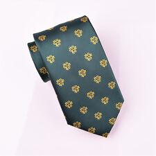 Italian Designer Green Tie 8cm Yellow Necktie Mens Sexy Luxury Florentine Style