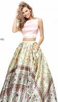50924 Sherri Hill Two Piece Prom Gown SZ10