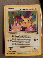 Happy Birthday Pikachu Black Star Promo #24 Holo Pokemon Card 2000 WOTC NM MINT