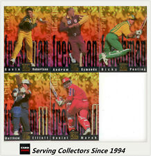 1996 Futera Australia Cricket Elite Trading Cards Freshman Subset Full Set (5)