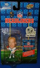 1996 NFL Headliners Dallas Cowboys Troy Aikman Figurine With Collector's Catalog