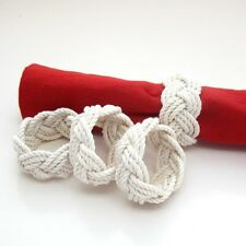 Nautical Napkin Rings Sailor Knot Turks Head by Mystic Knotwork: Set of 4