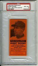 1958 San Francisco Call Bulletin Ruben Gomez PSA 8 Giants