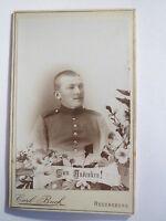 Regensburg - Soldat in Uniform - Portrait / CDV