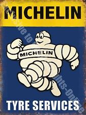 Vintage Garage 21,Michelin Man, Tyres,,Motor Car,Wheels,Old Large Metal Tin Sign