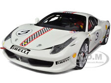 FERRARI 458 ITALIA CHALLENGE WHITE #3 ELITE EDITION 1/18 CAR BY HOTWHEELS X5487