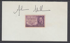 Alan Miller, Pulitzer Prize Reporter, signed Joseph Pulitzer stamp on card