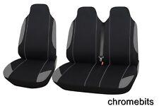 2+1 GRIGIO-NERO MORBIDO & Comfort tessuto COPRISEDILI for VW Trasportatore T4