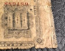 Interesting find! Cutting error (obverse right) 1900 Colombia 10 Pesos Banknote