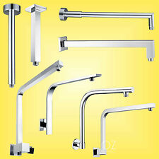 Bath Square/Round Ceiling Wall Gooseneck Swivel Arm Rail for Shower Head Chrome