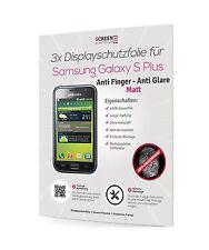 3x Schutzfolie Matt für Samsung Galaxy S Plus i9000 i9001 Anti Glare Fingerprint