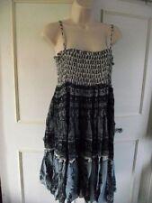 Vestiti da donna a righe con girocollo in cotone