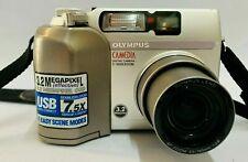 "Olympus C-3020 Zoom Digital Camera Point & Shoot 3.2Mp 1.8"" 3x Oz 3x Dz Silver"