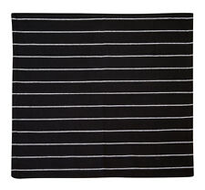 Cotton Kitchen Towels Striped Black 2/pack