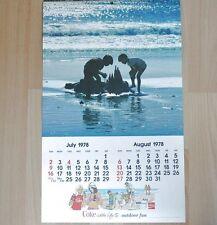 Bel vecchio Coca-Cola Calendario 1978 USA Coca Cola calendario
