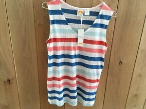 Linen Top Nautical Striped Size 8 with Wooden Buttons £45