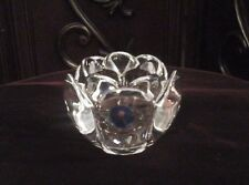 Royal Copenhagen Crystal Lotus Flower Votive Candle Holder ~ New With Sticker
